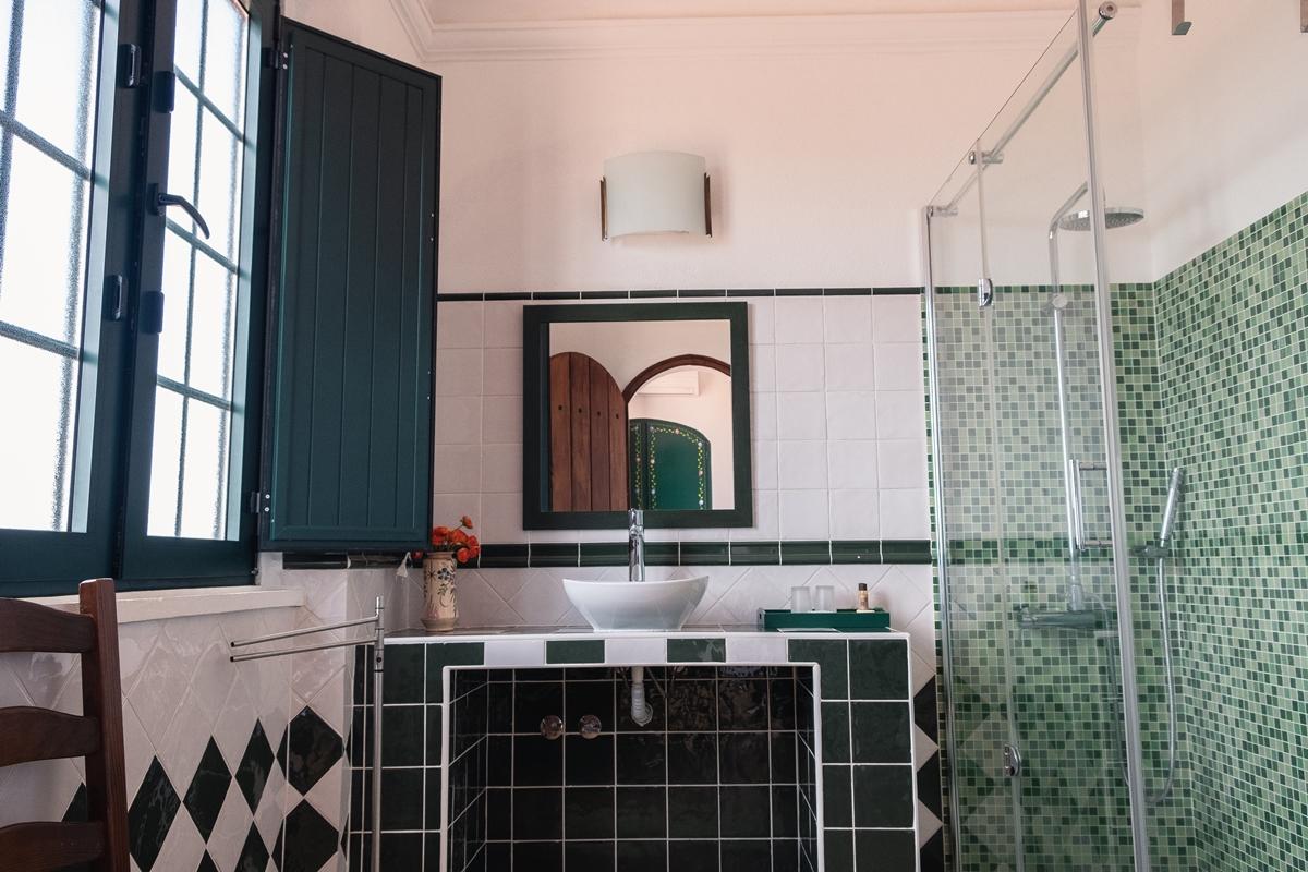 Casa de banho com duche Herdade Vale de Cabras Portel Alentejo